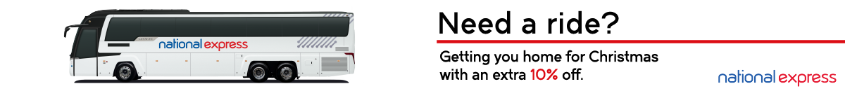 Banner for National Express November 2020 Advert