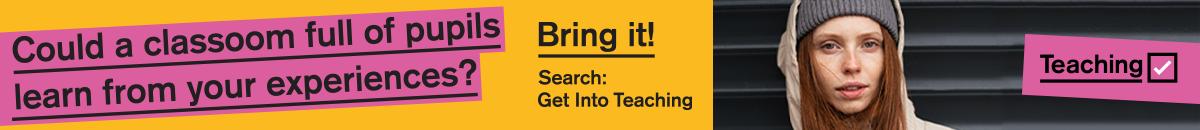 Banner for Get Into Teaching September 2021