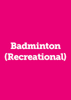 Badminton (Recreational) Recbad Annual Membership 2018/19